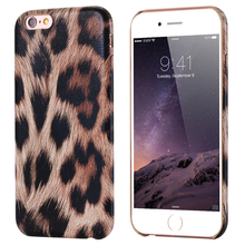 For iPhone 5S 5 SE Cellphone Case Cool Leopard Pattern Soft PU + Acrylic Protector Back Cover For iPhone 5S 5 SE Super Slim Bag