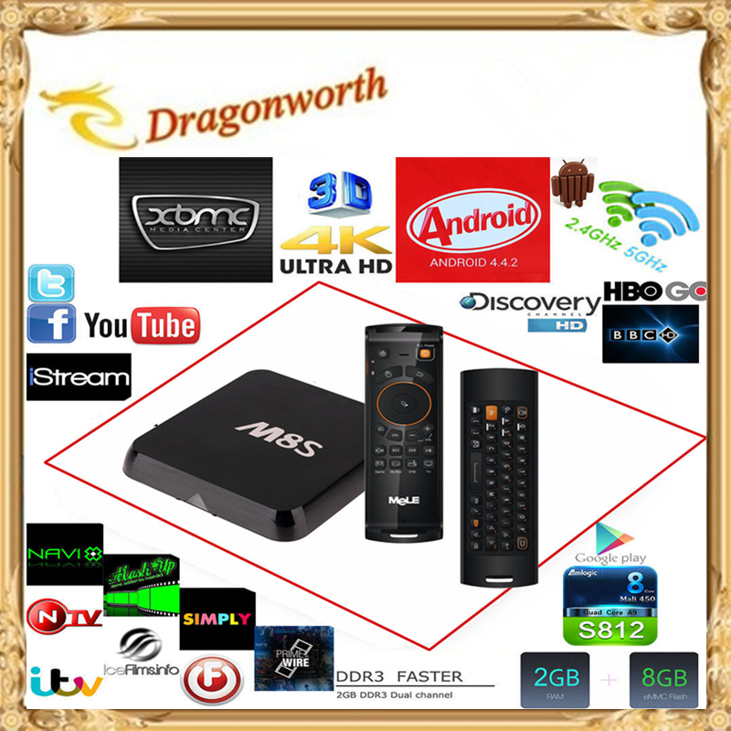 Android Smart TV Box Amlogic S812 2G 8G XBMC Dual band wifi Full HD Media Player M8s android TV Box TVA-32<br><br>Aliexpress