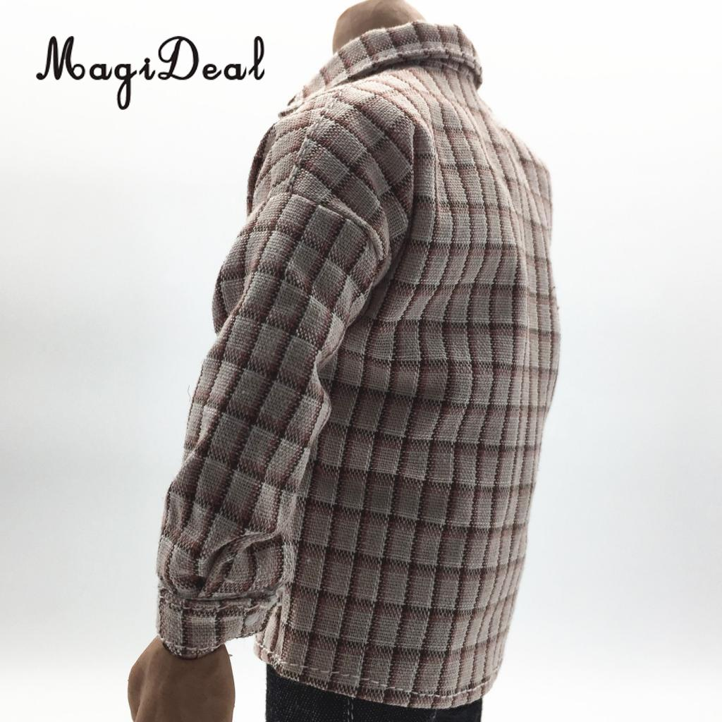 Brand New 1/6 Scale Casual Wear Male Plaid Shirt Clothes Suit Cloth Men's Clothing for 12 Inch Action Figure Dolls DIY Acc