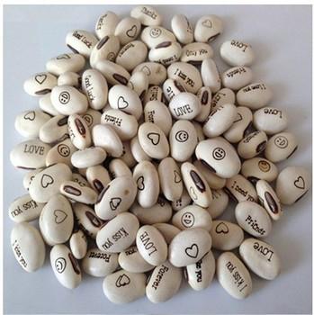 15pcs/lot. White English magic Bean seeds, Jack Bean,whitemagic growing message bean,Plant what you wish