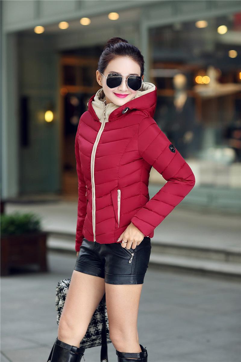 Hooded Parka Women 2015 Autumn Winter Short Coat Quilted Women Winter Jacket Female Slim Korean Parka Women