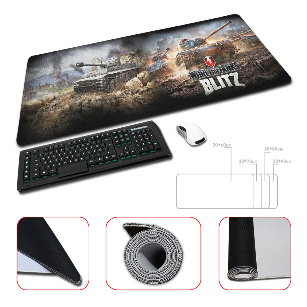 Large 4 Sizes for Gaming World of Tanks Desktop Pad Mousepads Computer Animation Mouse Mat Silica gel Gaming Mice Pad(China (Mainland))