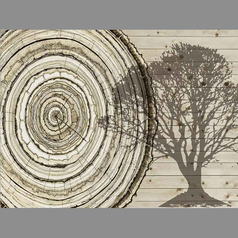 Trees growth ring Unseamed silk cloth Custom photo wallpapers 3D wall papers sofa backdrop mural wallpapers background