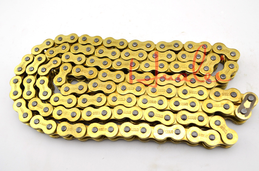 530*120 Brand New UNIBEAR Motorcycle Drive Chain 530 Gold O-Ring Chain 120 Links For KAWASAKI Z 650 B Drive Belts<br><br>Aliexpress