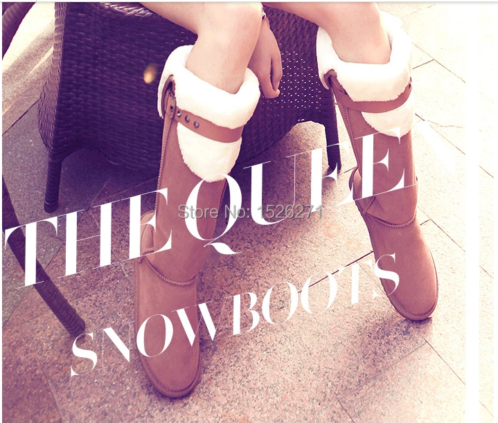 New 2014 HOT ! Fahion 10 inch thigh high suede boots Height Winter women snow boots for Lady Beige,Black,Gray,Brown,Purple,Pink(China (Mainland))