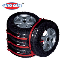 Auto Care 4PCS 4X4 Spare Tyre Cover Tire Cover Storage Bag with carrying handles Adjustable Size Accessory Winter Protector(China (Mainland))