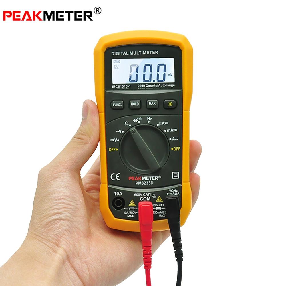 Digital Dc Meter : Peakmeter ms d auto manual range multimeter probe