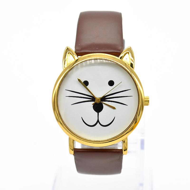 2015 Fashion Cat Watches Women Dress Watch charms Lady Casual Reloj Quartz Watches orologio da polso F60*MPJ800(China (Mainland))