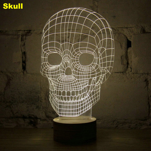 3D Lamp Spiderman, Darth Vader, Iron Man and more