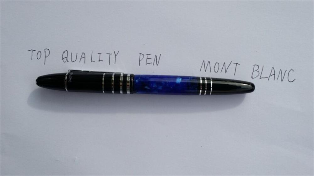 2015 free shipping Old mon blanc BALLPOINT PEN Black Pens acrylic curler ball pen with pen fill up pencil case Prime quality