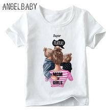 Pasujące rodzinne stroje super mom i córka drukuj chłopcy dziewczęta koszulka prezent na dzień matki dla dzieci ubrania dla dzieci i kobiety śmieszne Tshirt(China)