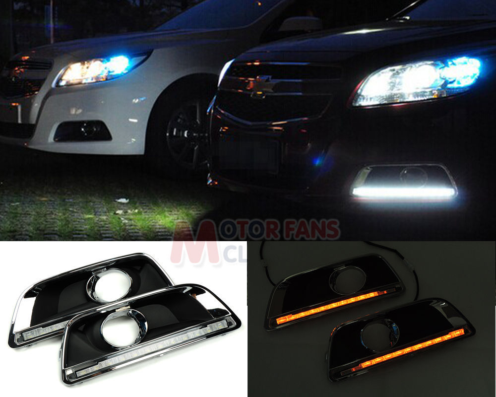 Cheap  LED Daytime Running Light For Chevy Malibu Lamp DRL LED 2012 2013 2014 Turn Signal for free shipping(China (Mainland))