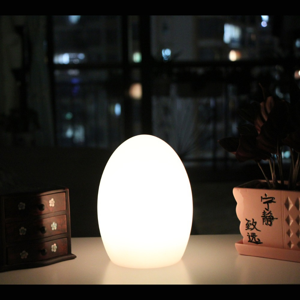 Mini Light Egg Shape rechargeable LED table lamps D14*H19cm Bar Furniture Set free shipping 1pc Dropshipping Support(China (Mainland))