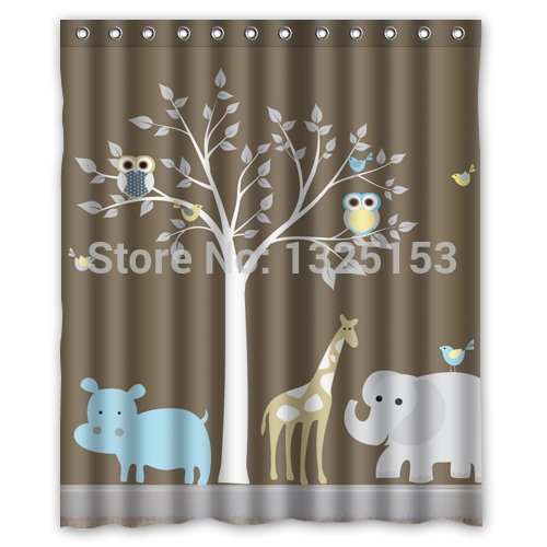online get cheap owl shower curtain