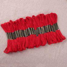 24 белый черный красный золотой вышивка крестиком резьба вышивка нить проводка линия ручной заполнения линии хлопка(China)