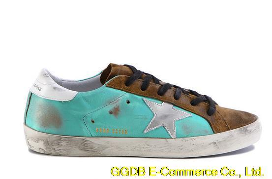 2015 Deluxe Brand Golden Goose Superstar High Top Genuine Leather Sneakers Men Women Shoes G24U590R2 SkyBlue GGDB Scarpe Donna