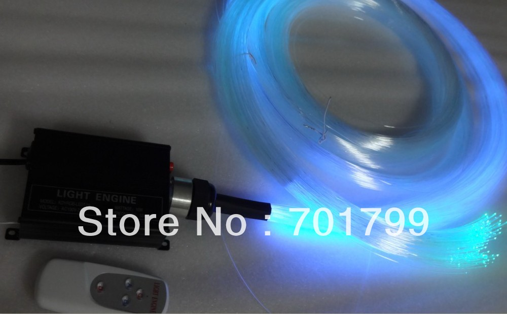 PS optical fiber kit;200pcs fibers x 1.0mm(diameter) x 4 meter long with one 16W RGB IR light engine