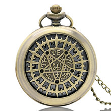 Buy Vintage Cool Hollow Kuroshitsuji Retro Bronze Quartz Pocket Watch Necklace White Face Steampunk Long Chain Pendant Gift for $3.26 in AliExpress store