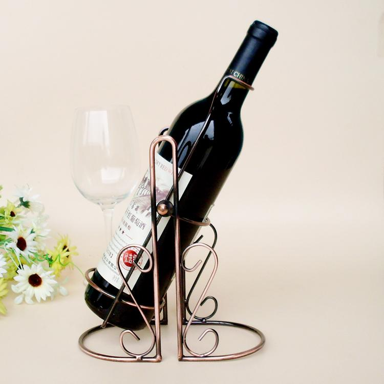 TYJ-005 Red Wine Bottle Rack Holder Wire Metal Wall Shelf Table Stand Home Decor(China (Mainland))