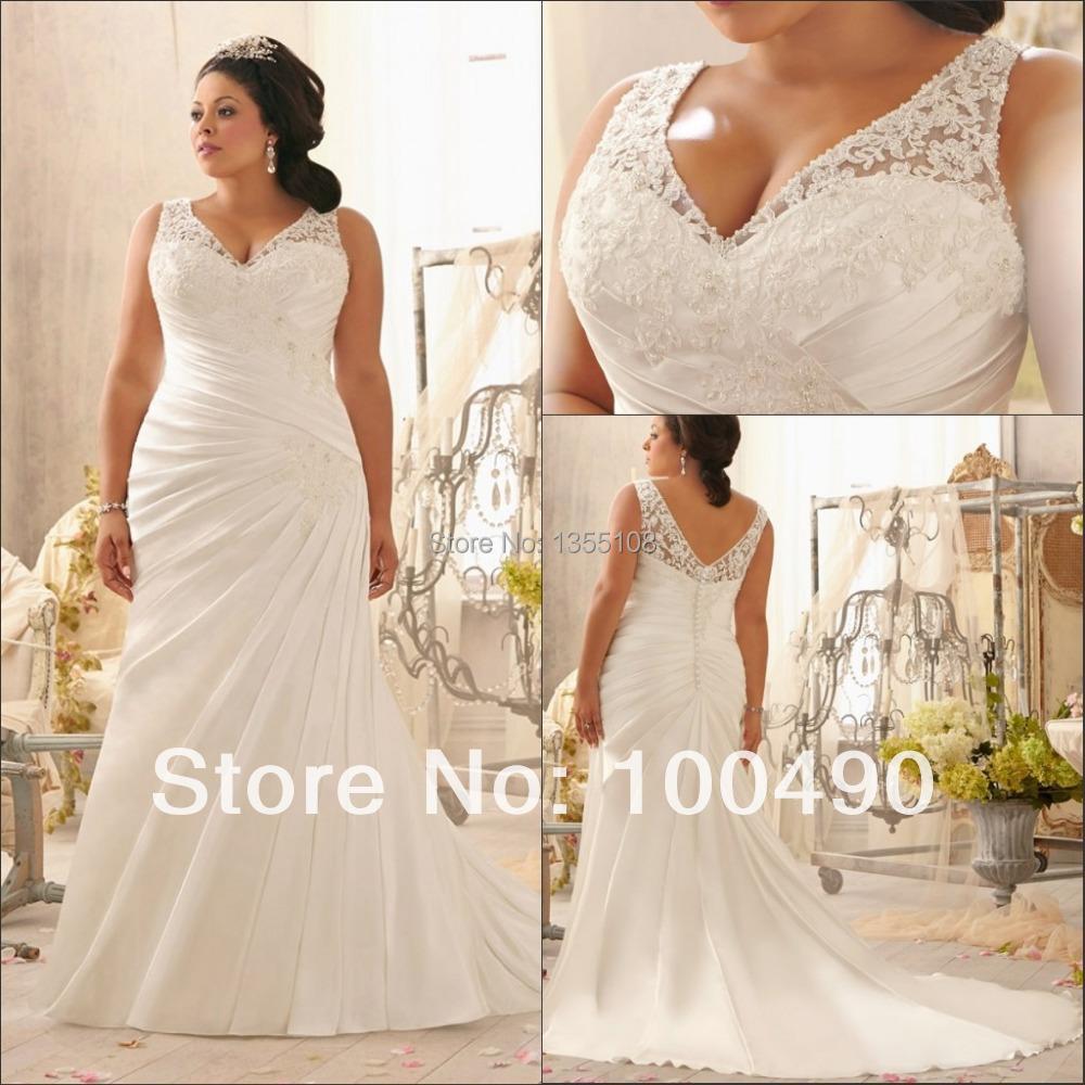 Plus Size Wedding Dresses Germany : Aliexpress buy customed plump ladies delicately