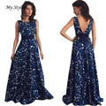 1PC Women Sexy Dress Fashion Sexy Women Floral Long Formal Pretty Dress Party Ball Gown Evening