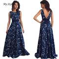 1PC Women Sexy Dress Fashion Sexy Women Floral Long Formal Pretty Dress Party Ball Gown Evening