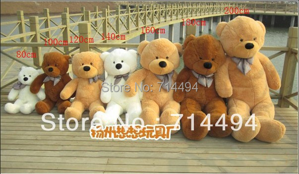 200cm three colors big teddy bear skin coat plush toy stuffed toys baby toy birthday gifts Christmas gifts(China (Mainland))