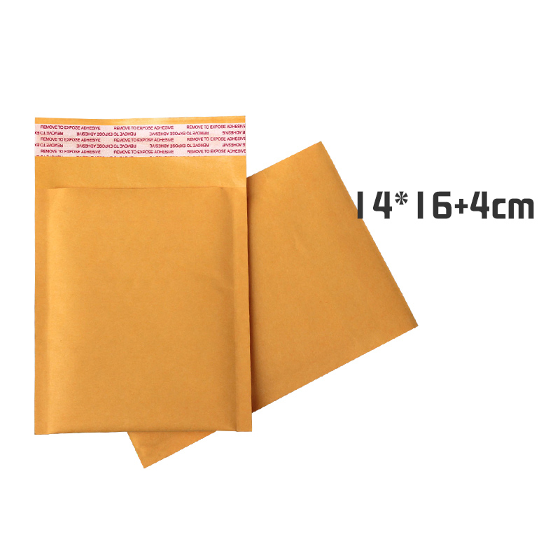 100pcs/lot 14cm*16cm+4cm Golden Kraft Bubble Mailers Envelope Mailer Air Bag Bubble Padded Envelopes(China (Mainland))