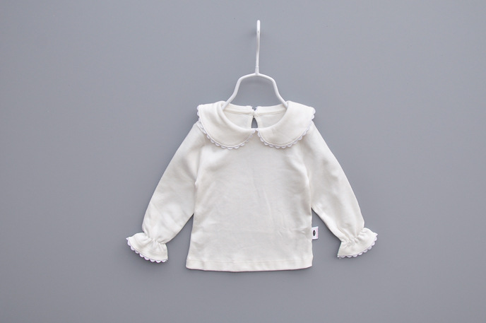 Newborn Baby blouse tees Clothes ivory Underwear Shirt long sleeve Collocation Girls formal gowns Dresses 80204