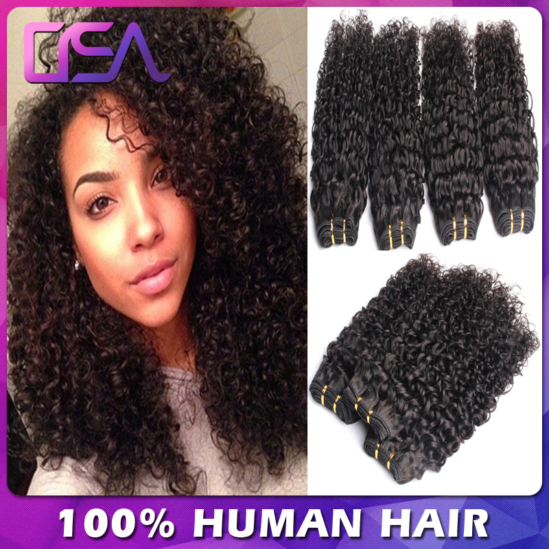Cheap Brazilian Tight Curly Virgin Hair Deep Wave Afro Curls Weave Wet And Wavy Human Hair 4 Bundles Deals OSA Modern Show Hair(China (Mainland))