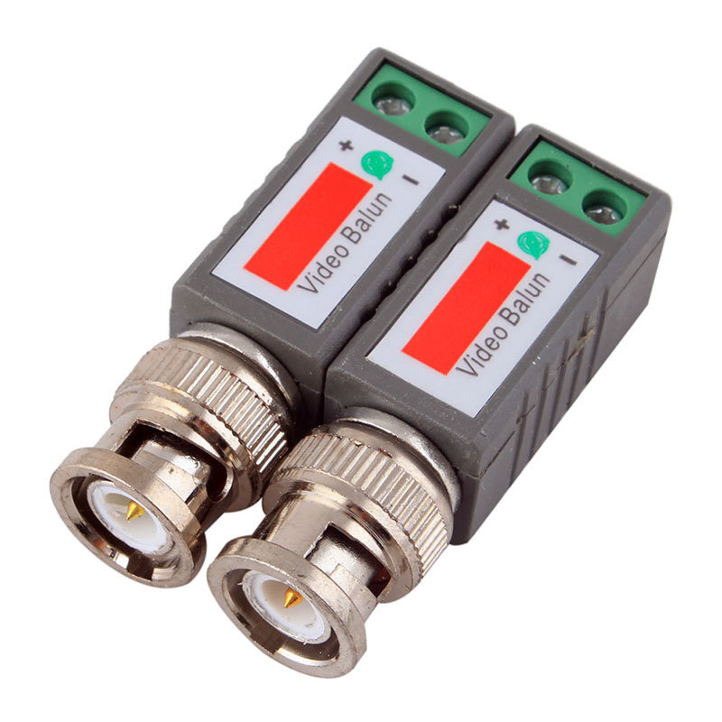 2X Coax CAT5 Camera CCTV Passive BNC Video Balun to UTP Transceiver Connector #45312(China (Mainland))