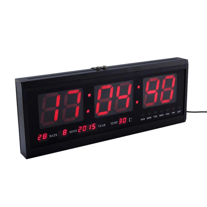 Fitness Fashion Crossfit Digital Led Calendar Wall Clock Big LED Time Calendar Night Light Large Decorative Watch Home Decor(China (Mainland))