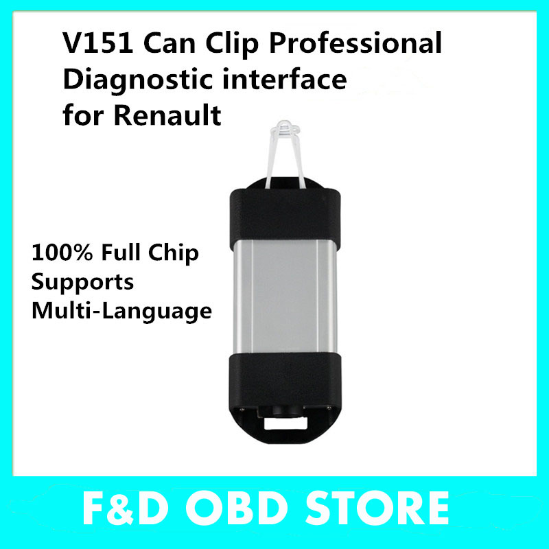 shipping free Newest V151 Renault Can Clip Auto Diagnostic Interface Renault Can Clip for Renault Scanner Tool support(China (Mainland))