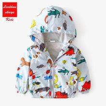 Liakhouskaya 18 סגנון חדש אביב 2019 ילדים נים Cartoon הדפסת מעיל רוח מעיל תינוק יילוד תינוקות מעילי מעילים לילדים(China)