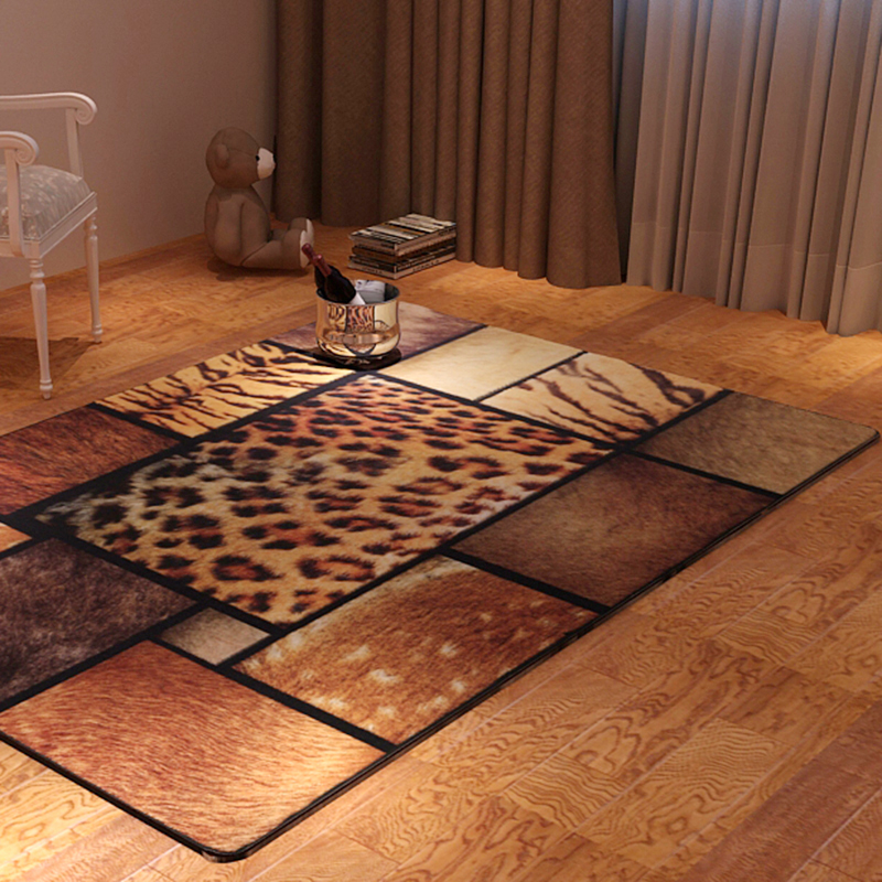 Fashion personalized animal skins rectangle fashion leopard print carpet coffee table carpet 1.4m*2m(China (Mainland))