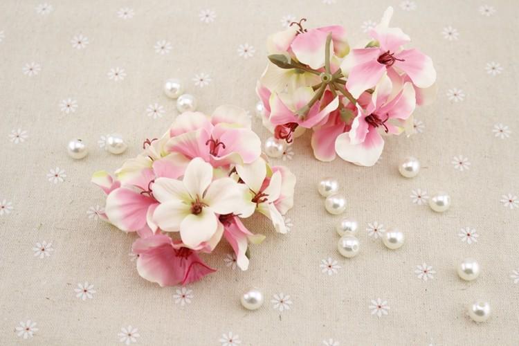 1pcs silk Artificial flower home decorative hydrangea flower heads simulation for wedding decoration DIY headdress Fake flower