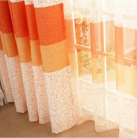 Compra tela de la cortina de color naranja online al por for Cortinas naranjas