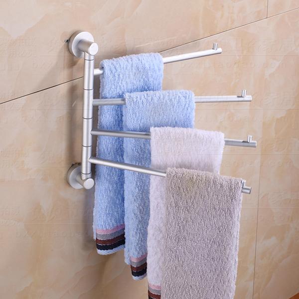 New 4 arms wall mounted space aluminum pallet hook bathroom shelf bathroom accessories towel bar - Bathroom accessories towel bars ...