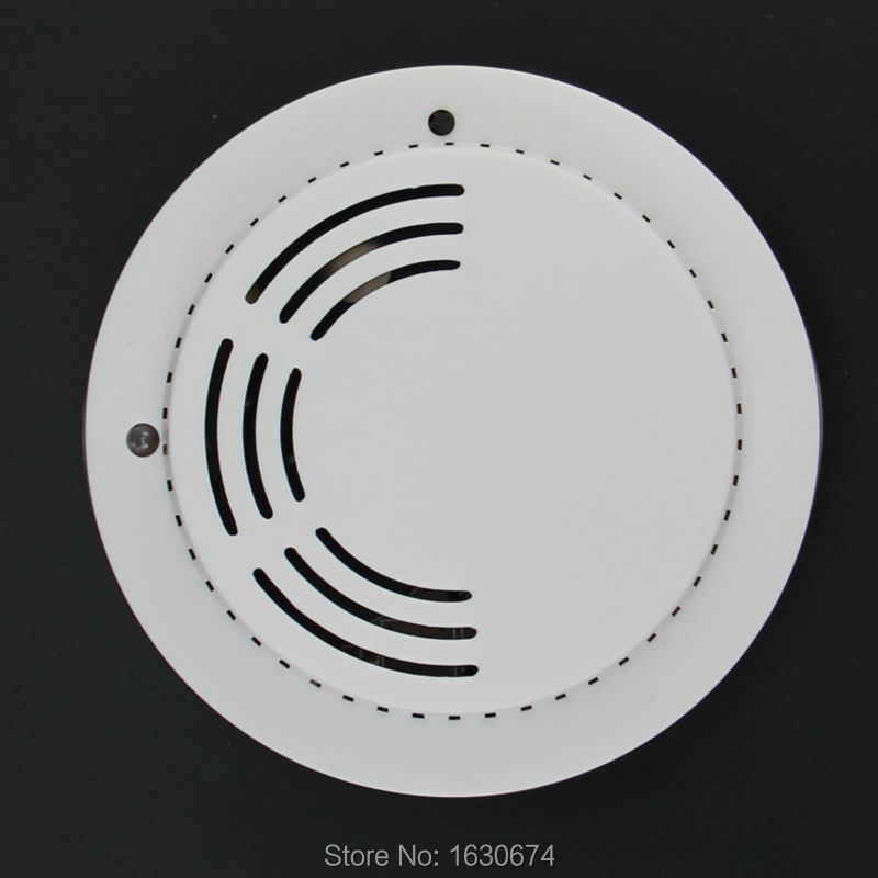 868mhz photoelectric wireless smoke detector fire alarm sensor 9v battery powered with test. Black Bedroom Furniture Sets. Home Design Ideas