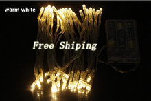 10M 80 LED Battery Power Operated LED String Lights Outdoor Waterproof for Christmas holidays wedding Decorations free shipping