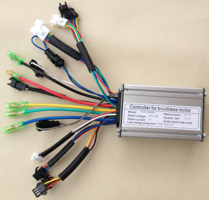 24v 36v 250w 15a Brushless Dc Square Wave Controller Ebike Electric Bicycle Hub Motor Controller