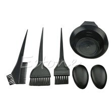 U119 1Set 5Pcs New Hairdressing Salon Hair Color Brushes Bowl Combo Dye Tint Tool Kit(China (Mainland))