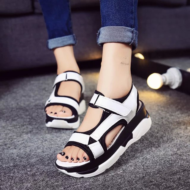 2016 Summer Style Classic Women Sandals Woman Platform Shoes Open Toe flip flops Thick Soled Sandalias Zapatos Mujer(China (Mainland))