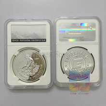 """UNCIRCULATED Collectible 1984 Engelhard Prospector Silver Coins 1OZ with """"E"""" Logo Reverse replica capsule PCCB NGC style(China (Mainland))"""