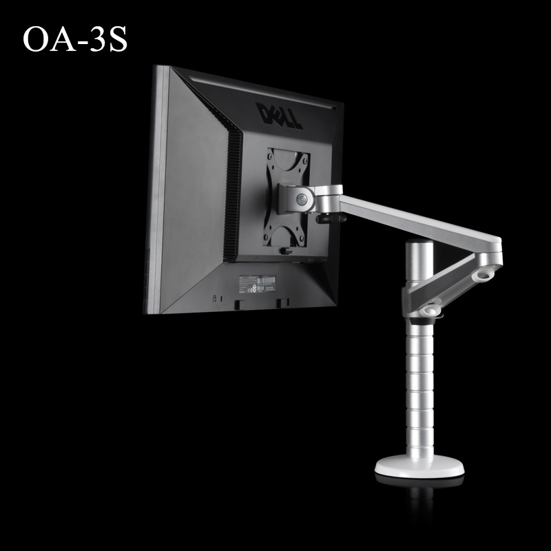OA-3S Height Adjustable Double Arm within 27 inch LCD Monitor Holder 360 Degree Rotatable Computer Monitor Stand