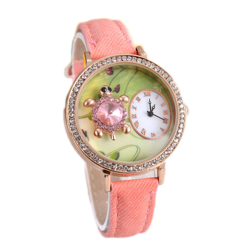 New Hot Sale 2016 Luxury Beauty Fabric Diamond Watch Alloy Dial Children Young Women Wirstwatches Beauty Cartoon Watch Relojes<br><br>Aliexpress