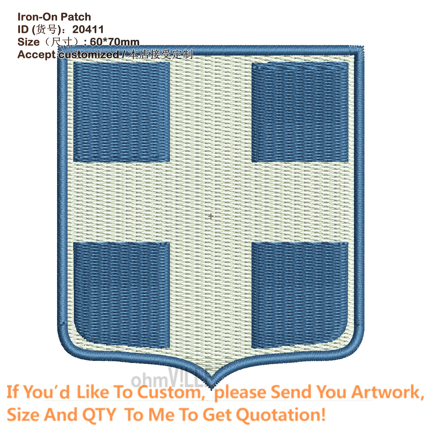 Customized Coat of Arms of Greece Patches For Clothing Applique 3D Embroidery Iron on Patch Eco-Friendly Embroidered Logo(China (Mainland))