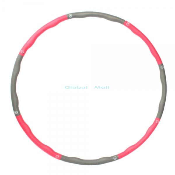 Ship From US Removable Fitness HULA Hoop Plastic Abdominal Health Foam Massage Hula Hoop Weighted Exercise Diet 24000580(China (Mainland))