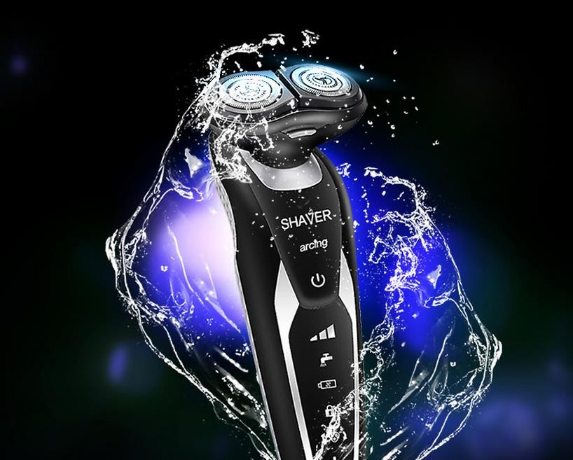 Buy Men razor rechargeable special razors floating 2 body wash rotary electric knife beard of the cutting tools cheap