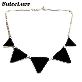 Kolovrat Women Statement Maxi Necklace Chunky Necklaces & Pendants Triangles Necklaces Choker Collier Femme Fashion Jewelry
